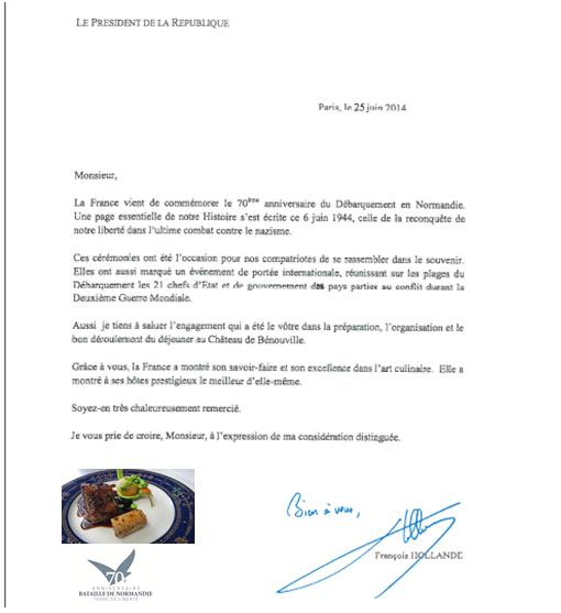 Repas des chefs d'Etats le 06 juin 2014
