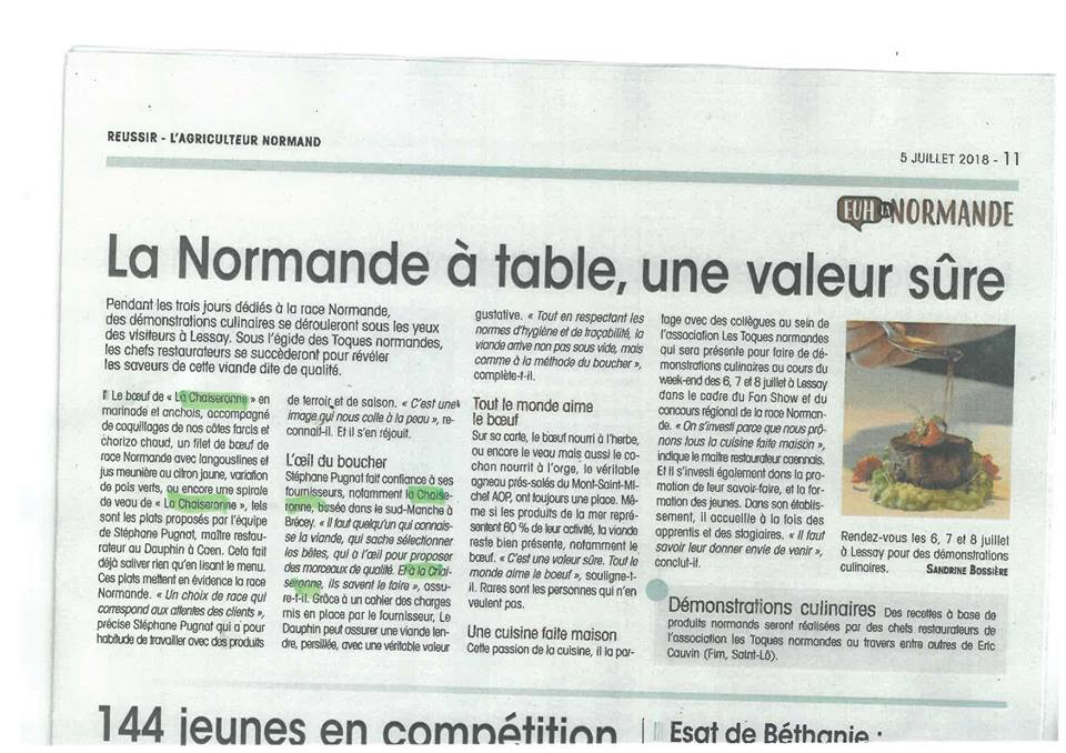 Article de l'agriculteur normand